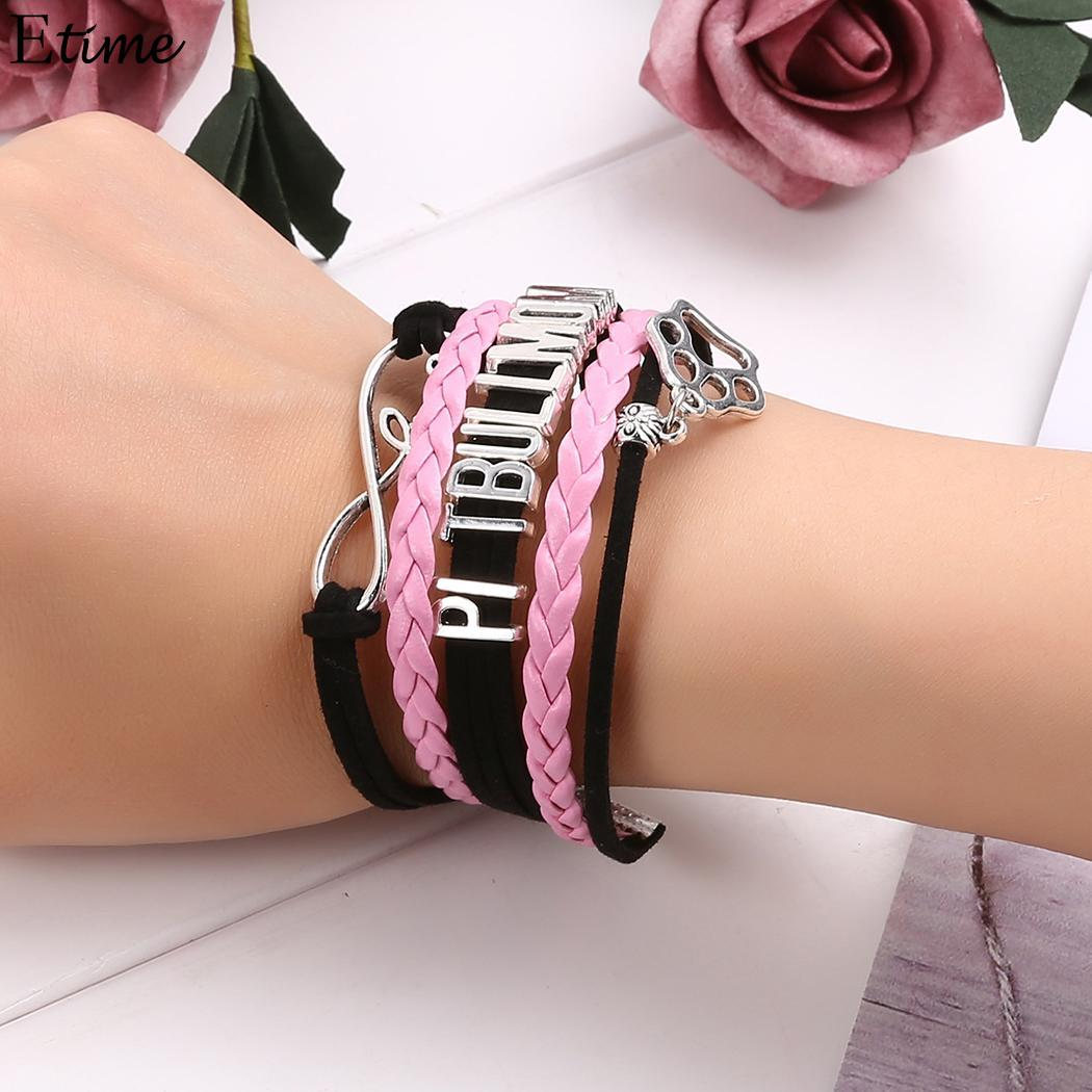 Claw Casual Rope Braided Layered Pendant Lobster Women Clasp Bracelet