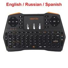 Мини клавиатура русская испанская английская версия 2,4G Беспроводная клавиатура для маленький ПК, ноутбук Android tv Box Raspberry Pi 3 Orange Pi