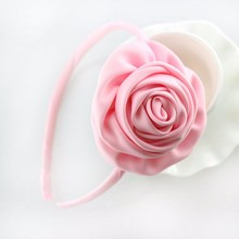 M MISM Q Girls Hair Accessories Delicate Pearls Hairpins Crown Flower Shaped BB Pink