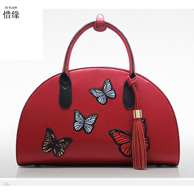 XIYUAN BRAND Women Handbag Female PU Leather Bags black Handbags Ladies Portable Shoulder Bag Office Ladies Hobos Bag Totes red xiyuan brand ladies beautiful and high grade imports pu leather national floral embroidery shoulder crossbody bags for women