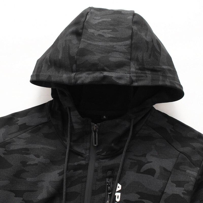 10XL 8XL 6XL 2018 Printemps Automne Hommes décontracté sweater à capuche camouflage Veste Homme Coupe Vent Vêtements Hommes Coupe Vent Manteau vêtements pour hommes - 3