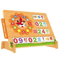 2 In One Wooden Mathematic & Memory Toy with clock learn Kid's Soft Montessori Blocks Set Classic toys high quality gift