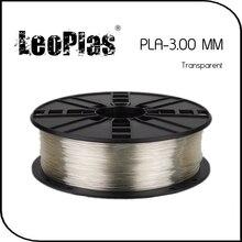 Worldwide Fast Delivery Direct Manufacturer 3D Printer Material 1 kg 2.2 lb 3mm Transparent PLA Filament