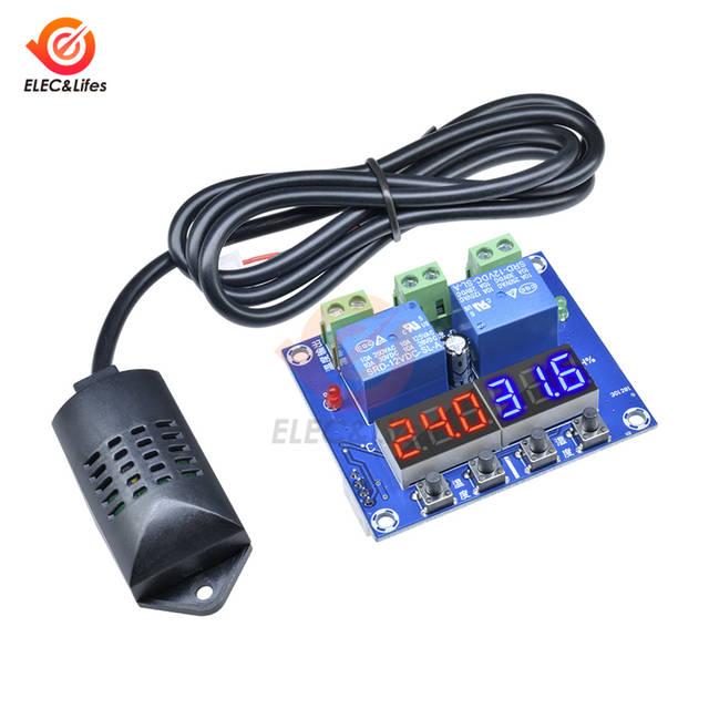 DC12V 10A XH M452 Temperature Humidity Controller Dual LED
