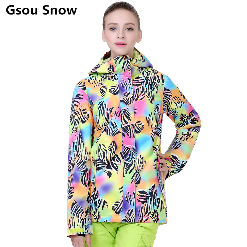 Gsou Snow winter snowboard jacket font b women b font ski font b suit b font