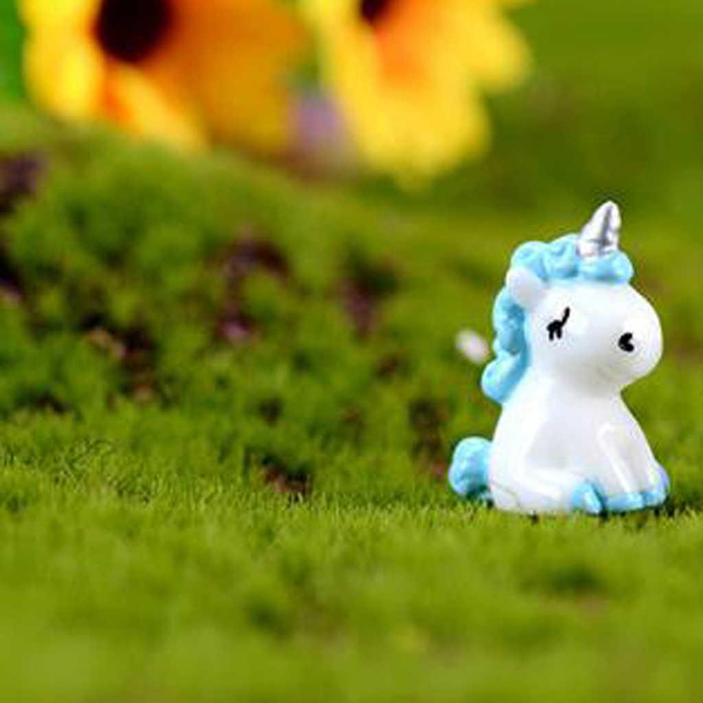 Unicorn Mini Miniature Figurine Fairy Garden Dollhouse Decor Landscape 0MJ/&@