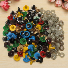 Baby Dolls Accessories Colorful Safety Eyes 100pcs 18mm Plastic For Teddy Bear Doll Animal Plush Puppet Girls Craft Toy Borned все цены