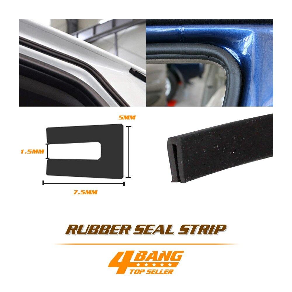 Auto Door Seal Strip U Channel Rubber Trim Guard Edge Anti Rub Waterproof 10ft