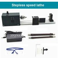 New C20 Stepless Speed Regulation Lathe Grinding Polishing Beads Machine Mini DIY Woodworking Lathe 12 24V 96W 9000r/min 0.6 6mm