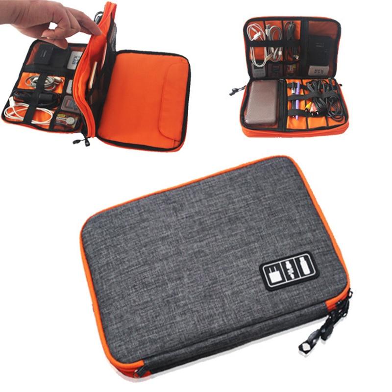 Waterproof Ipad Organizer USB Data Cable Earphone Wire Pen Power Bank Travel Storage Bag Kit Case Digital Gadget Devices