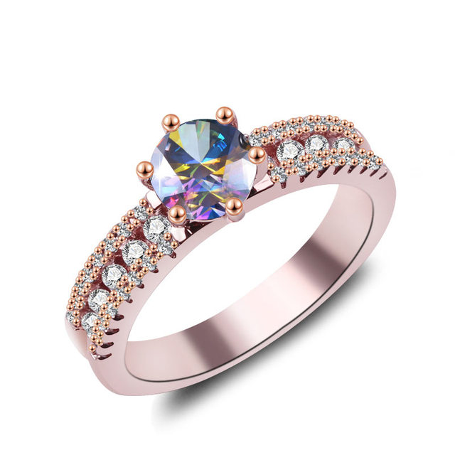 New Fashion Engagement Rings Cubic Zirconia Rings Luxurious Olive green Jewelry Wedding Ring Women Ring For Party Buy A Gif