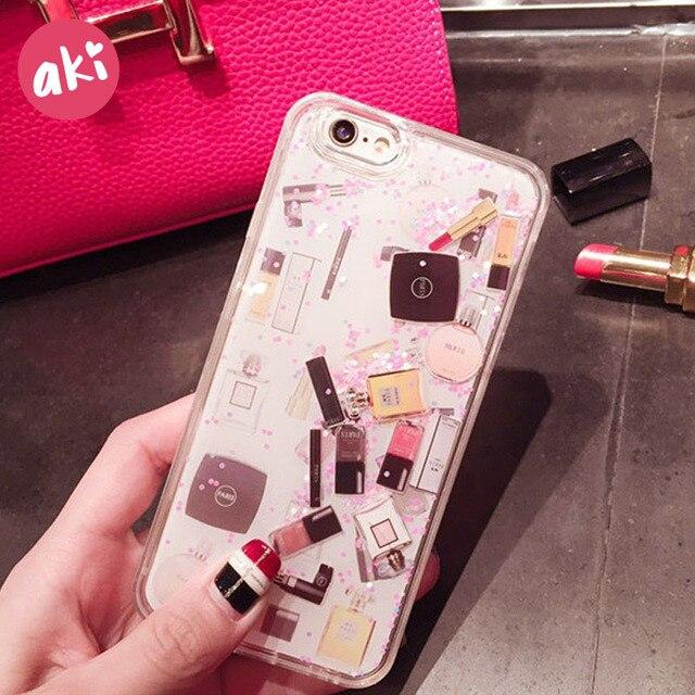 iphone 8 plus case glitter liquid