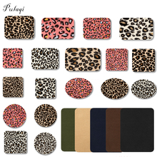 Pulaqi Leopard Spot Iron On Patches Elbow Patch Print Knee Repair DIY For Clothes Jeans Fabric Sewing Decoration F