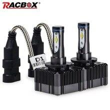 RACBOX D1S D1C D1R D3S D3C D3R автомобильная светодиодная лампа для фары лампа глобус светильник 72 Вт 8000лм 6000 К Белый 12 в 24 в универсальный дизайн
