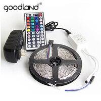 Goodland RGB LED Strip Light 5050 SMD 5M 10M 60Leds M Flexible Light Tape IR Remote