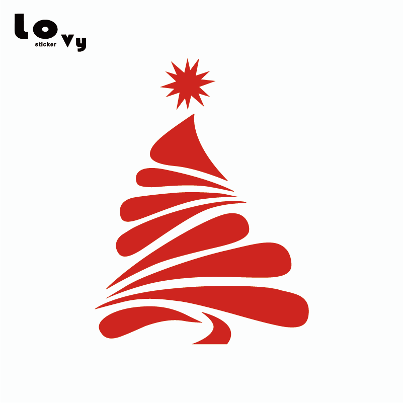 Tree, Silhouette, Creative, Christmas, Wall, Sticker