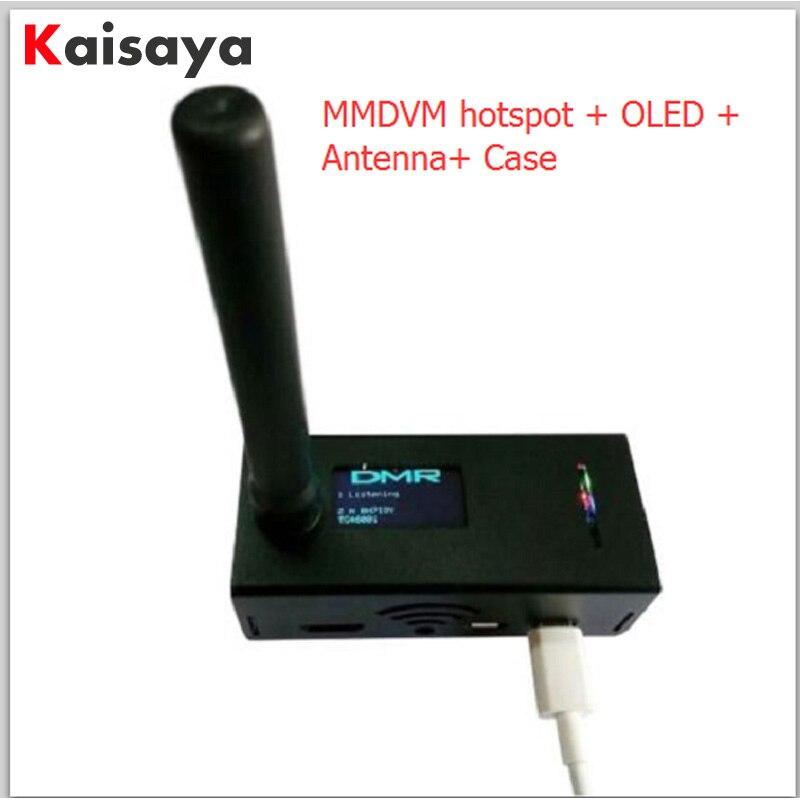 UHF/VHF MMDVM hotspot OLED + Antenne + Cas Soutien P25 DMR FSJ pour Raspberry pi