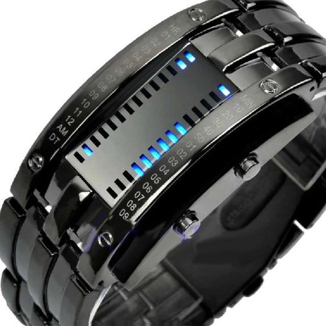 Men Women Creative Luxury Digital LED Watches Bracelet Date Binary Waterproof 30m Military Electronics Wristwatch Relogio Mascul