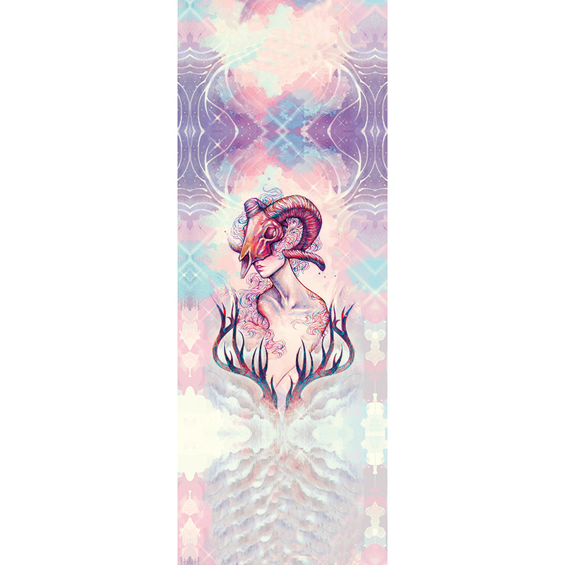 <+>  183см   68см   0 2мм 12 знаков зодиака 12 Коврик для полотенца для йоги Пот-впитывающий слой Защищен ★