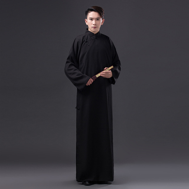 f3b3d1324 Chinese Folk Dance Costume Men Robe Chinese Traditional Clothing ...