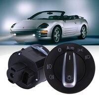 Universal Car Headlight Control Switch Car Fog Light Plating Knob Replacement For Volkswagen Golf Jetta Passat