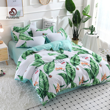 ParkShin Nordic Banana Leaf Decor Bedding Set Soft Duvet Cover Bedspread Pillowcase Single Double Queen King Size Bed Linens