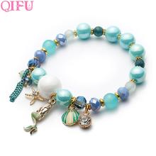 QIFU 1pcs Mermaid Shell Bracelet For Birthday Party Favors Gifts Girlfriend Anniversary Gift Wedding And Supplies
