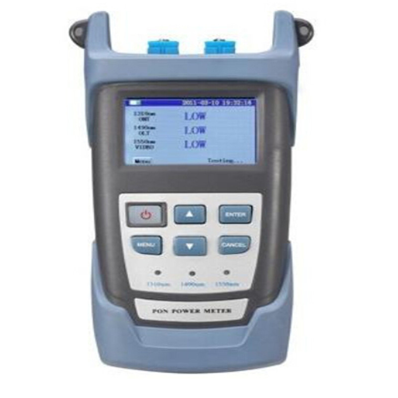 RY3201 high precision PON optical power meter universal joint of LCD display PON FTTH handheld optical power meterRY3201 high precision PON optical power meter universal joint of LCD display PON FTTH handheld optical power meter