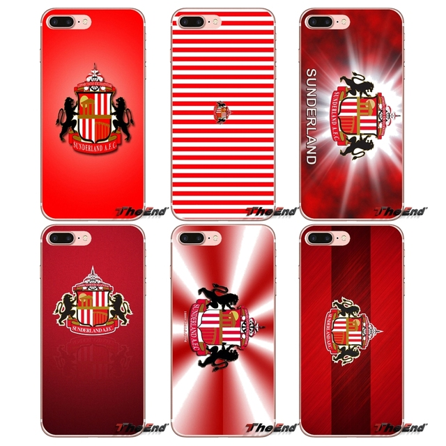 sports shoes 9a610 0bf61 US $0.99 |England Sunderland A.F.C. Logo Phone Case For iPhone X 4 4S 5 5S  5C SE 6 6S 7 8 Plus Samsung Galaxy J1 J3 J5 J7 A3 A5 2016 2017-in ...