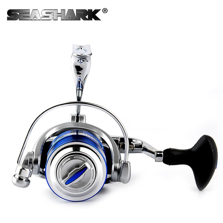 Seashark металла 14bb спиннинг Рыбалка катушка 1000-7000 без пауз металлическая головка  ...