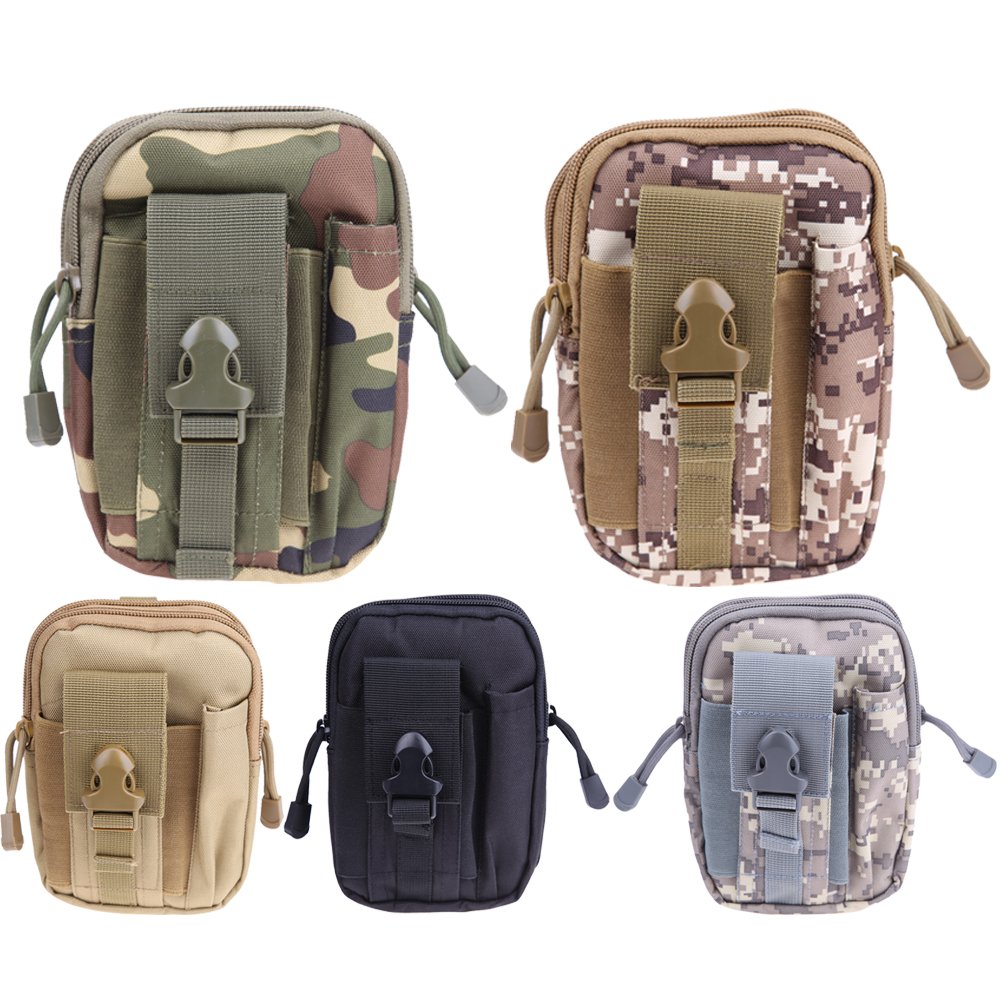 Men Tactical Waist Bag Molle Pouch Belt Pack Military Running Small Pocket Pouch OutdoorTravel Camping Bag