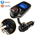 Original New Bluetooth Car Kit Handsfree Set Car MP3 Player FM Transmitter 5V 2.1A USB Car Charger, Support AUX Line in & Out