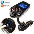 Original Novo Conjunto Do Carro Bluetooth Car Kit Mãos Livres MP3 Player Transmissor FM 5 V 2.1A Carregador de Carro USB, suporte AUX Line in & Out