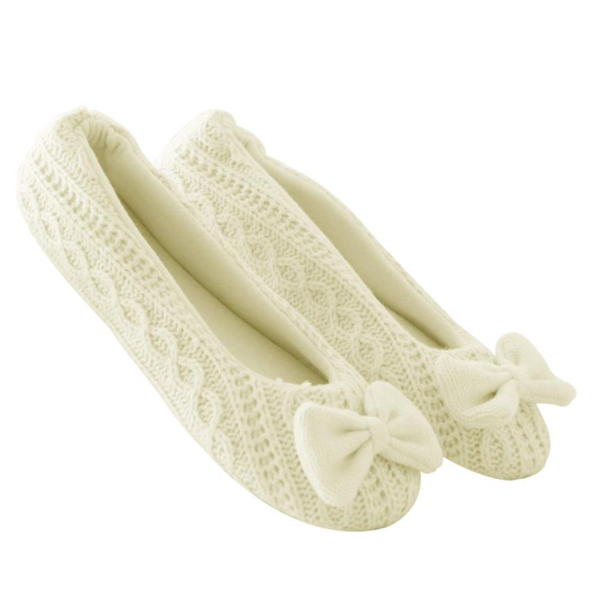Women Ladies Home Floor Soft Indoor Flats Outsole Cotton-Padded Bowknot zapatos mujer Female Cashmere Women's Warm Shoes A8 vintage embroidery women flats chinese floral canvas embroidered shoes national old beijing cloth single dance soft flats