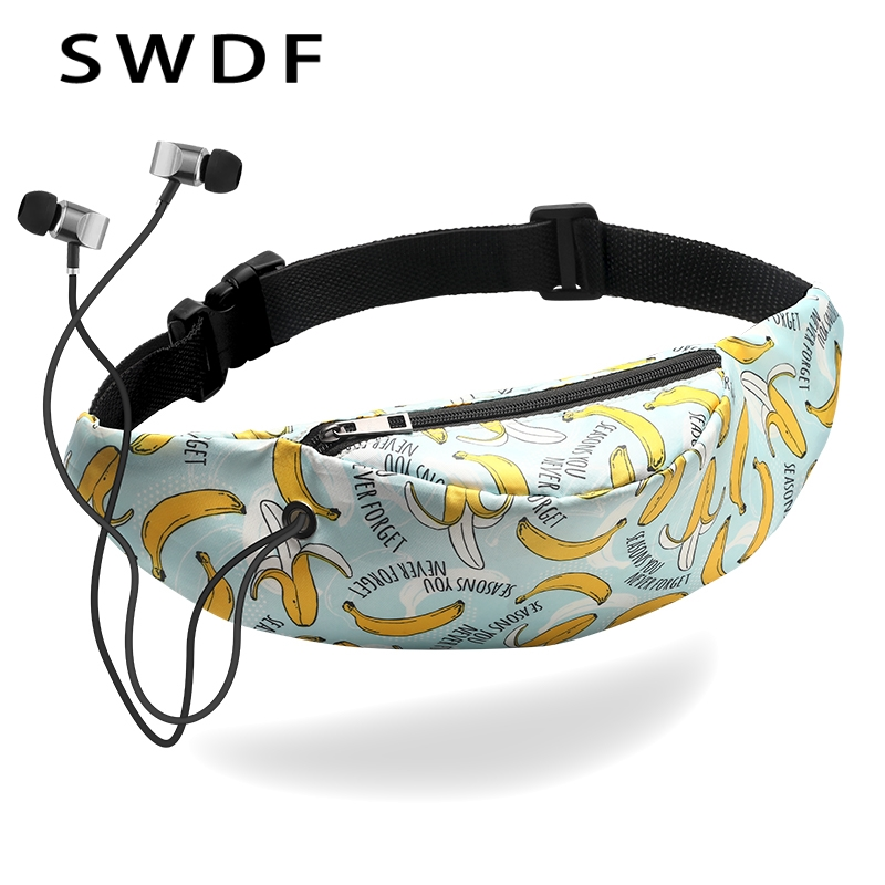 SWDF 2018 Fanny Pack for Women Men Waist Bag Colorful Unisex Waistbag Belt Bag Zipper Pouch Packs 105 cm Belt Length Factory OEM stylish mid waist zipper fly blue ankle length jeans for women