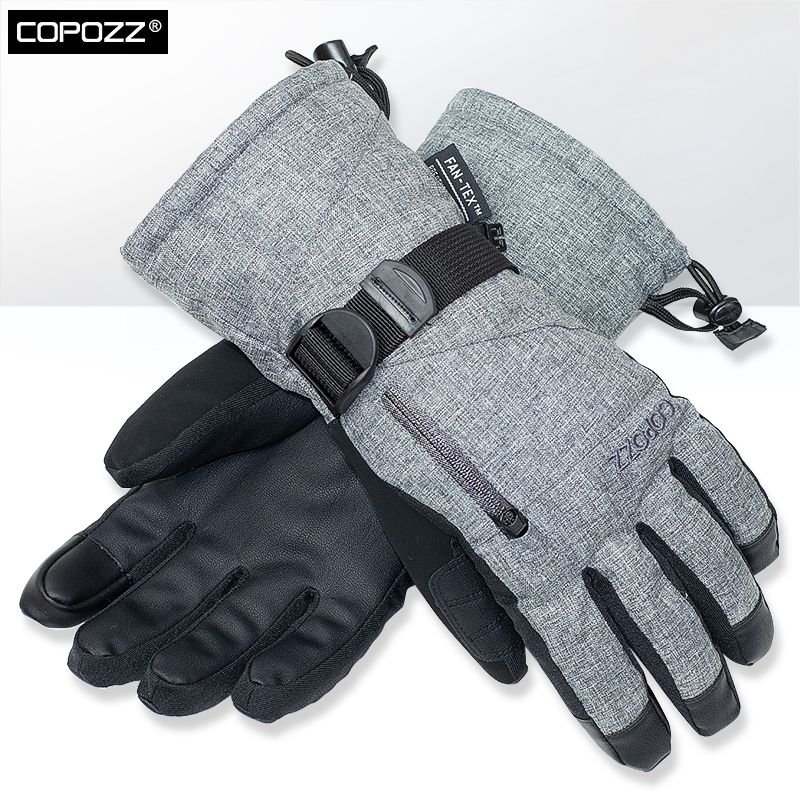 COPOZZ Unisex -30 Degree Snowboard Mittens Touchscreen Ski Gloves Snowmobile Motor Winter Skiing Waterproof Thermal Snow Gloves(China)