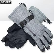 COPOZZ Unisex 30 องศาสโนว์บอร์ด Mittens Touchscreen ถุงมือสกี Snowmobile มอเตอร์ฤดูหนาวเล่นสกีกันน้ำความร้อนถุงมือหิมะ
