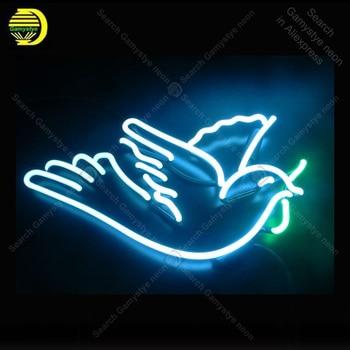 Peace dove Neon Sign Neon Bulbs sign custom design Iconic Beer Bar Pub Bird light Lamps Sign display advertise enseigne lumine