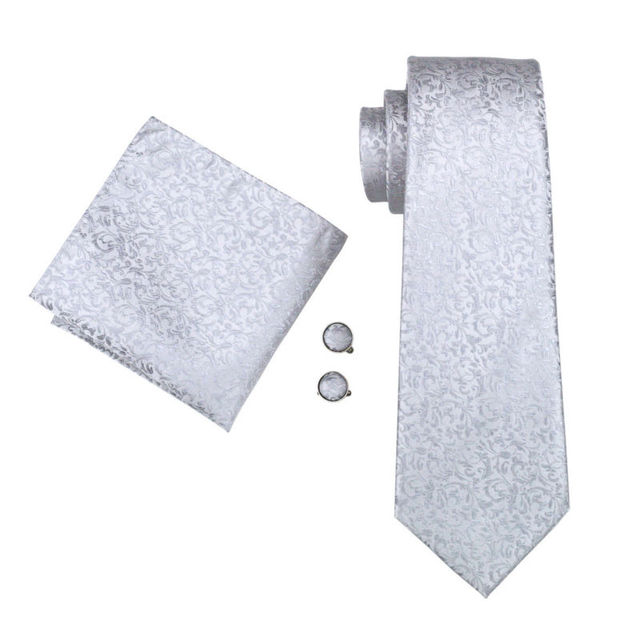 Silk Necktie, Cufflinks and Handkerchief Set 1