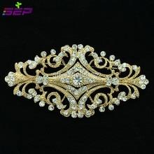 Europe Royal Style Flowers Brooch Pins Rhinestone Crystal Women Jewelry Bridal Wedding Accessories XBY060