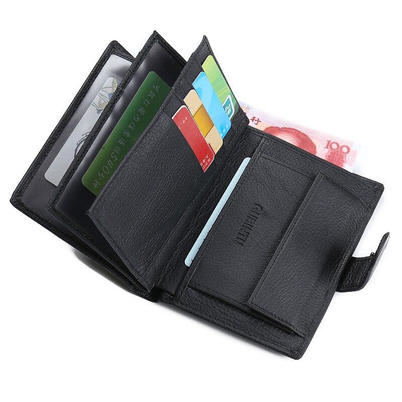 2018 GUBINTU Document Wallet Cowhide Leather Handy Bag Genuine Leather Money Purse Coin Pocket Vintage Design Card Holder