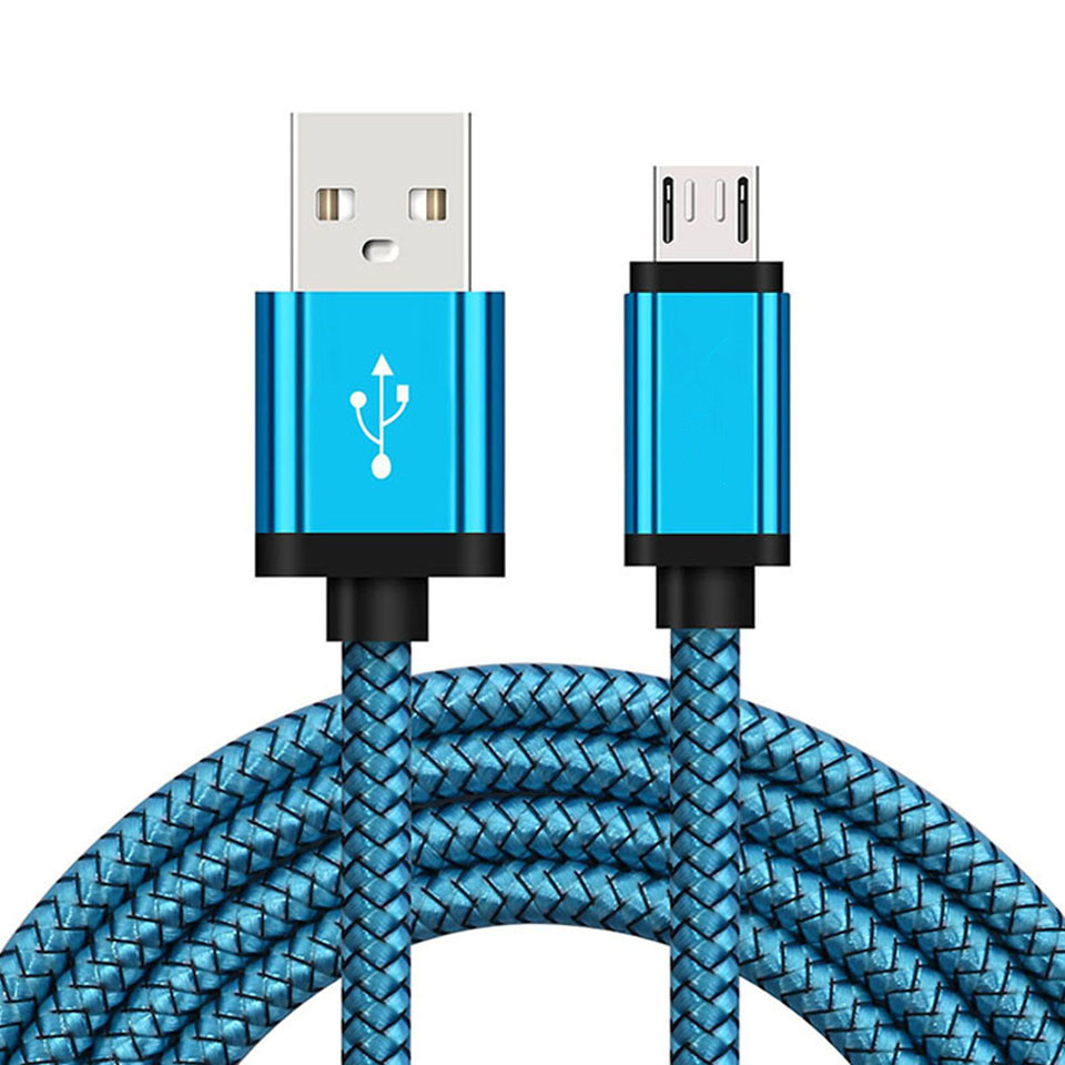 Micro <font><b>USB</b></font> Charging Cable For Samsung Galaxy A3 A5 A7 2016 J7 Core <font><b>1</b></font>/2 Meter Long Mobile Phone Charger Short Cord Redmi 4 <font><b>5</b></font> 6 image