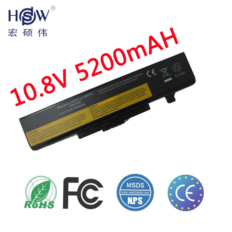 HSW Laptop battery For Lenovo G480 G485 G585 G580 Y480 Y580 Z380 Z480 Z580 Z585 121000675 45N1048 L08M6D23 L11N6R01 L11S6F01 laptop battery for lenovo v580 v580c y480 y480p y485 y580 y580a z380 z480 z485 z580 z585 v480s v480u 9cell