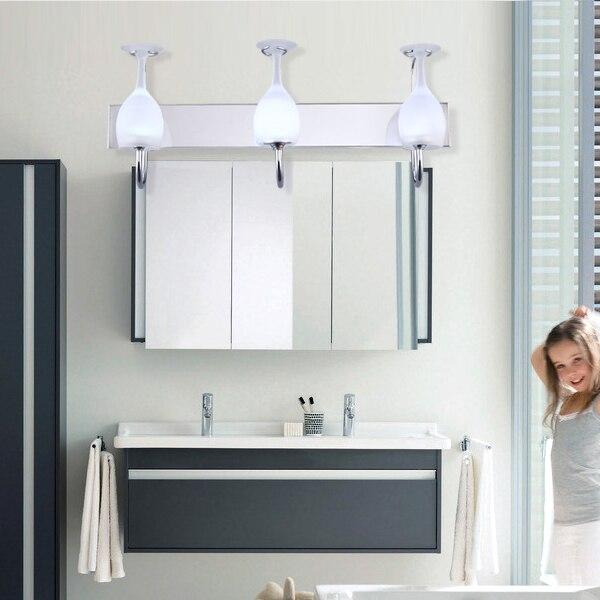 Led moderno minimalista luz ba o espejo del ba o l mpara de pared de acero inoxidable accesorios - Iluminacion espejos bano ...