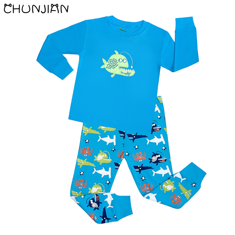 tinaluling boys fish sleepwear kids shark pajamas children animal  tinaluling boys fish sleepwear kids shark pajamas children animal home clothing baby cartoon pijamas girls 2017 new pyjama in pajama sets from mother kids