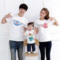 2017 New Summer Style Family Matching Shirts Cotton Character Short-Sleeve T-Shirts Fashion Family Matching Clothing Plus Size