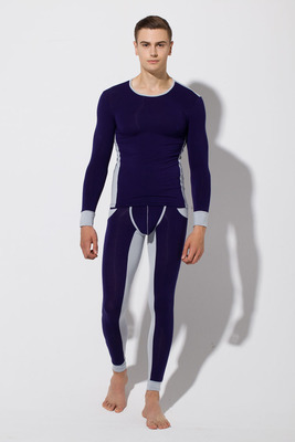 Thermal-Underwear-Sets Long-Johns Winter Warm Men's Thick Black Gray RQ052 Navy Dark-Gra