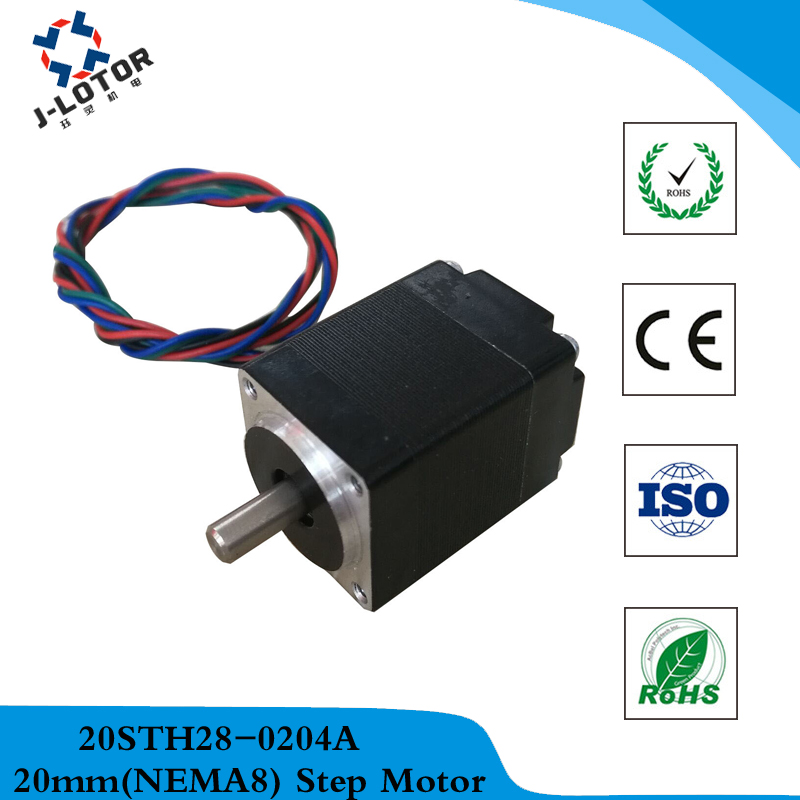 1.8 degrees 2-phase 20mm NEMA8 stepper motor 20BYG28 0.2A 14mN.m Stepping Motor with shaft diameter 4mm*10 mm