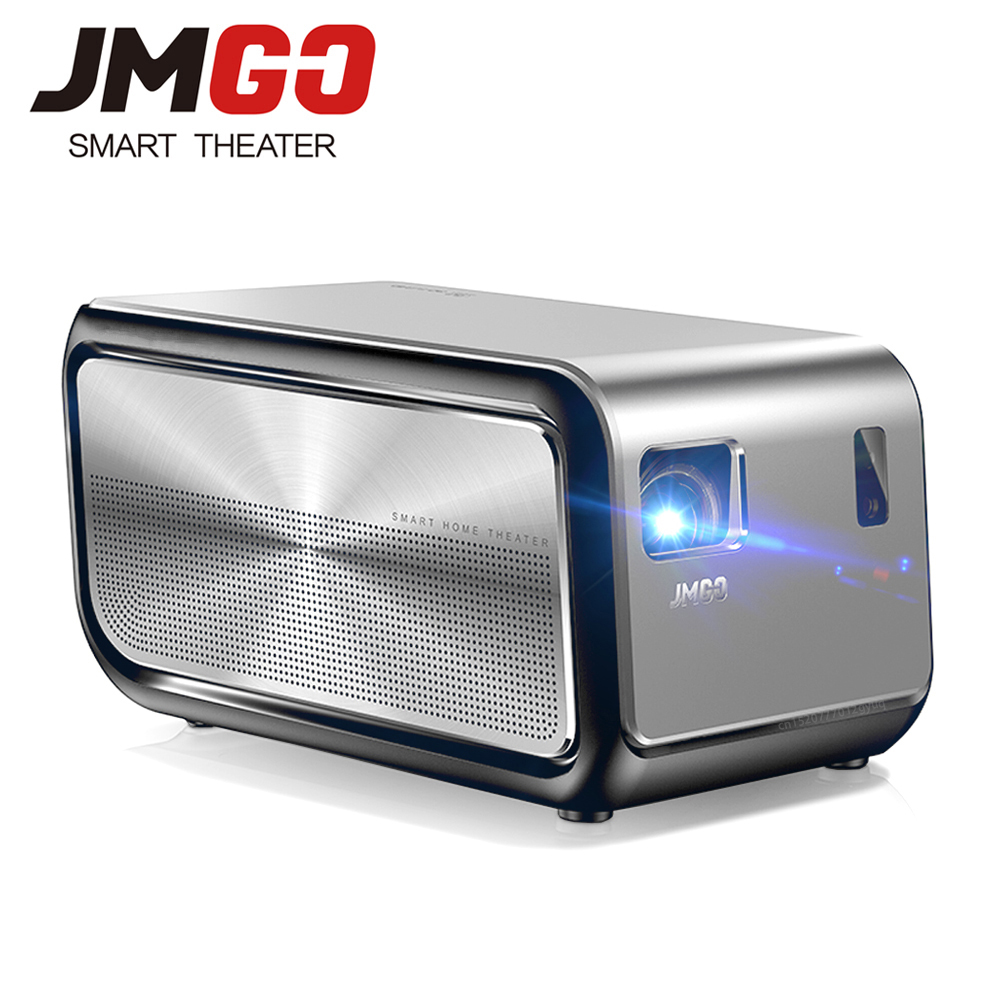 JmGO J6S Overhead Projector Full HD Home Theater 3D 1080P 1920x1080 Hi-Fi Bluetooth DLP Projector Android WIFI Proyector Beamer wzatco short throw projector daylight hdmi home theater 1080p full hd 3d dlp projector proyector beamer for church hall hotel