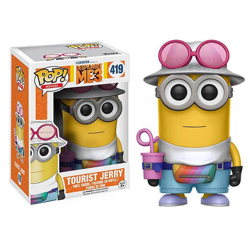 Funko pop Despicable Minions Jerry Turístico Dave Unicórnio Fofo brinquedos Action Figure Coleção de brinquedos para presente de crianças